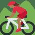🚵🏾♀️ woman mountain biking: medium-dark skin tone Emoji on Twitter Platform