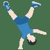 🤸🏻♂️ man cartwheeling: light skin tone Emoji on Twitter Platform