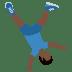 🤸🏿♂️ man cartwheeling: dark skin tone Emoji on Twitter Platform