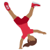 🤸🏾‍♀️ woman cartwheeling: medium-dark skin tone Emoji on Twitter Platform