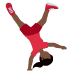 🤸🏿‍♀️ woman cartwheeling: dark skin tone Emoji on Twitter Platform