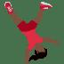 🤸🏿♀️ woman cartwheeling: dark skin tone Emoji on Twitter Platform