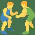 🤼 people wrestling Emoji on Twitter Platform