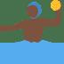 🤽🏿 person playing water polo: dark skin tone Emoji on Twitter Platform