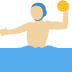 🤽🏼‍♂️ man playing water polo: medium-light skin tone Emoji on Twitter Platform