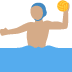 🤽🏽‍♂️ man playing water polo: medium skin tone Emoji on Twitter Platform
