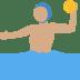 🤽🏽♂️ man playing water polo: medium skin tone Emoji on Twitter Platform