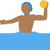 🤽🏾♂️ man playing water polo: medium-dark skin tone Emoji on Twitter Platform
