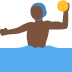 🤽🏿‍♂️ man playing water polo: dark skin tone Emoji on Twitter Platform