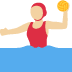 🤽🏼♀️ woman playing water polo: medium-light skin tone Emoji on Twitter Platform