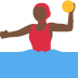 🤽🏿‍♀️ woman playing water polo: dark skin tone Emoji on Twitter Platform