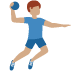 🤾🏽‍♂️ man playing handball: medium skin tone Emoji on Twitter Platform
