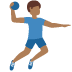 🤾🏾‍♂️ man playing handball: medium-dark skin tone Emoji on Twitter Platform