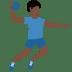 🤾🏿♂️ man playing handball: dark skin tone Emoji on Twitter Platform