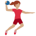 🤾🏽‍♀️ woman playing handball: medium skin tone Emoji on Twitter Platform