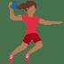 🤾🏾♀️ woman playing handball: medium-dark skin tone Emoji on Twitter Platform