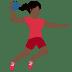 🤾🏿♀️ woman playing handball: dark skin tone Emoji on Twitter Platform