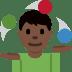 🤹🏿 person juggling: dark skin tone Emoji on Twitter Platform