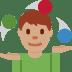 🤹🏽♂️ man juggling: medium skin tone Emoji on Twitter Platform