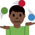🤹🏿‍♂️ man juggling: dark skin tone Emoji on Twitter Platform