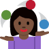 🤹🏿‍♀️ woman juggling: dark skin tone Emoji on Twitter Platform