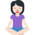 🧘🏻 person in lotus position: light skin tone Emoji on Twitter Platform