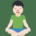 🧘🏻♂️ man in lotus position: light skin tone Emoji on Twitter Platform