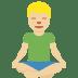 🧘🏼♂️ man in lotus position: medium-light skin tone Emoji on Twitter Platform