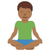 🧘🏾‍♂️ man in lotus position: medium-dark skin tone Emoji on Twitter Platform