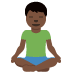 🧘🏿‍♂️ man in lotus position: dark skin tone Emoji on Twitter Platform