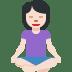 🧘🏻♀️ woman in lotus position: light skin tone Emoji on Twitter Platform