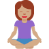 🧘🏽‍♀️ woman in lotus position: medium skin tone Emoji on Twitter Platform