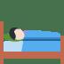 🛌🏻 person in bed: light skin tone Emoji on Twitter Platform