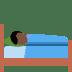 🛌🏿 Dark Skin Tone Person In Bed Emoji on Twitter Platform