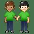 🧑🏽🤝🧑🏻 people holding hands: medium skin tone, light skin tone Emoji on Twitter Platform