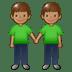 🧑🏽🤝🧑🏽 people holding hands: medium skin tone Emoji on Twitter Platform