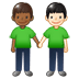 🧑🏾‍🤝‍🧑🏻 people holding hands: medium-dark skin tone, light skin tone Emoji on Twitter Platform