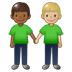 🧑🏾‍🤝‍🧑🏼 people holding hands: medium-dark skin tone, medium-light skin tone Emoji on Twitter Platform
