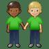 🧑🏾🤝🧑🏼 people holding hands: medium-dark skin tone, medium-light skin tone Emoji on Twitter Platform
