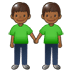 🧑🏾‍🤝‍🧑🏾 people holding hands: medium-dark skin tone Emoji on Twitter Platform