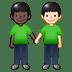 🧑🏿🤝🧑🏻 people holding hands: dark skin tone, light skin tone Emoji on Twitter Platform