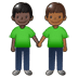 🧑🏿‍🤝‍🧑🏾 people holding hands: dark skin tone, medium-dark skin tone Emoji on Twitter Platform