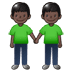 🧑🏿‍🤝‍🧑🏿 people holding hands: dark skin tone Emoji on Twitter Platform