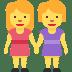 👭 women holding hands Emoji on Twitter Platform