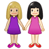 👩🏼‍🤝‍👩🏻 women holding hands: medium-light skin tone, light skin tone Emoji on Twitter Platform