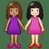 👩🏽🤝👩🏻 women holding hands: medium skin tone, light skin tone Emoji on Twitter Platform