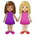 👩🏽‍🤝‍👩🏼 women holding hands: medium skin tone, medium-light skin tone Emoji on Twitter Platform