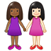 👩🏾‍🤝‍👩🏻 women holding hands: medium-dark skin tone, light skin tone Emoji on Twitter Platform