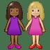 👩🏾🤝👩🏼 women holding hands: medium-dark skin tone, medium-light skin tone Emoji on Twitter Platform