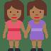 👭🏾 women holding hands: medium-dark skin tone Emoji on Twitter Platform